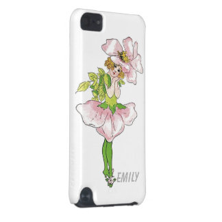 Pink Briar Rose Flower Floral Funny Cute Girl iPod Touch (5th Generation) Cases