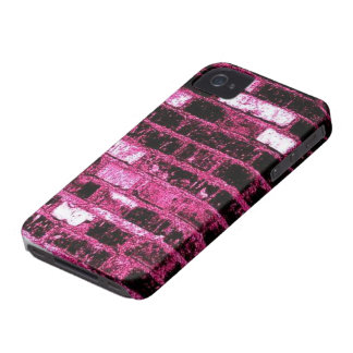 Pink Brick BlackBerry Bold Case-Mate Barely There iPhone 4 Covers