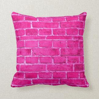 Pink Brick Pillows