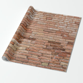 Pink brick wall wrapping paper