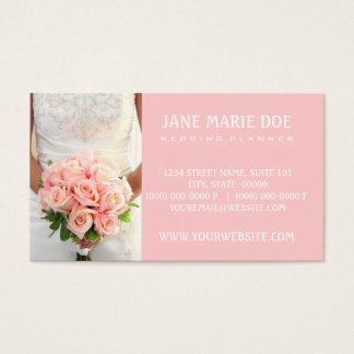 Pink Bridal Roses Business Card