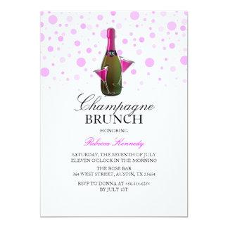 Pink Bridal Shower Champagne Brunch Invite