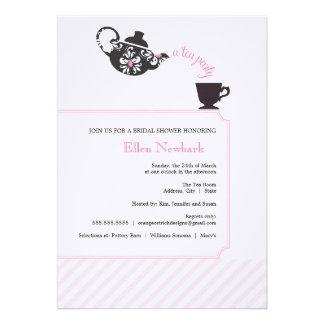 Pink Bridal Shower Invitation - Tea