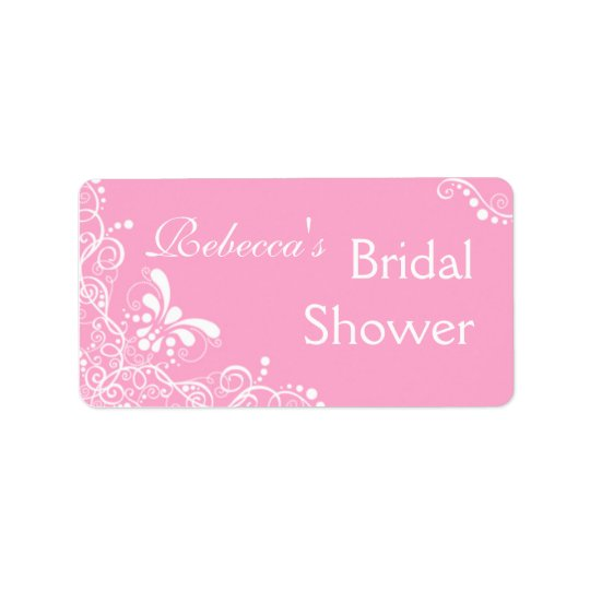 Pink Bridal Shower Labels
