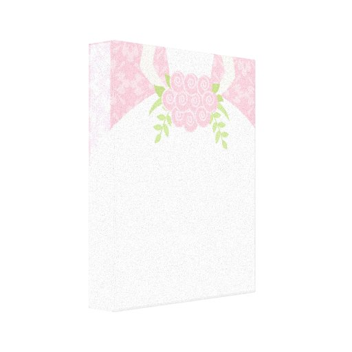 Pink Bride Stretched Canvas Print