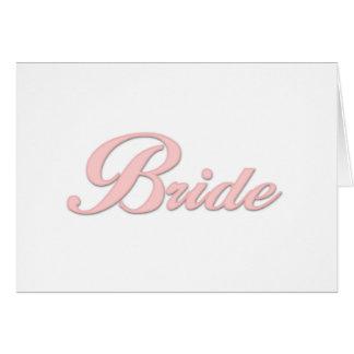 Pink Bride    Greeting Cards