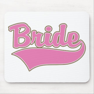 Pink Bride Design with Swash Tail Mouse Pad