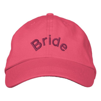 Pink Bride Embroidered Hat