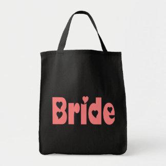 Pink Bride Heart Wedding Tote Bag