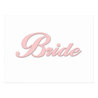 Pink Bride    Postcard
