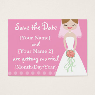 Pink Bride Save the Date Cards