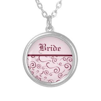 Pink Bride Swirls Necklace