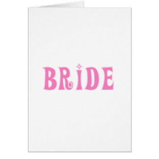 Pink Bride Tshirts and Gifts Cards