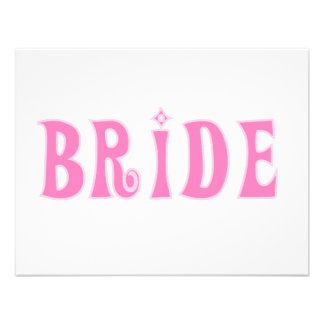 Pink Bride Tshirts and Gifts Invitations
