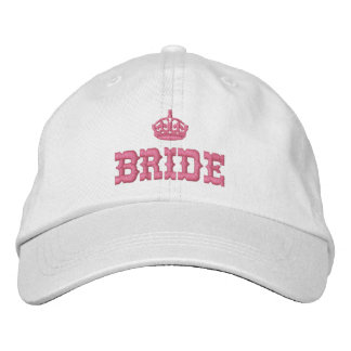 Pink bride with crown embroidered hats