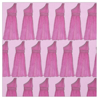 Pink Bridesmaid Dress Wedding Bridal Party Fabric