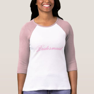 Pink Bridesmaid T-Shirt