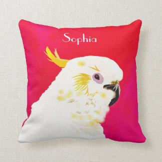 Pink Bright Cockatoo Cushion