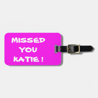 PINK BRIGHT  LUGGAGE TAG. VIVID MAGENTA COLOR TAG