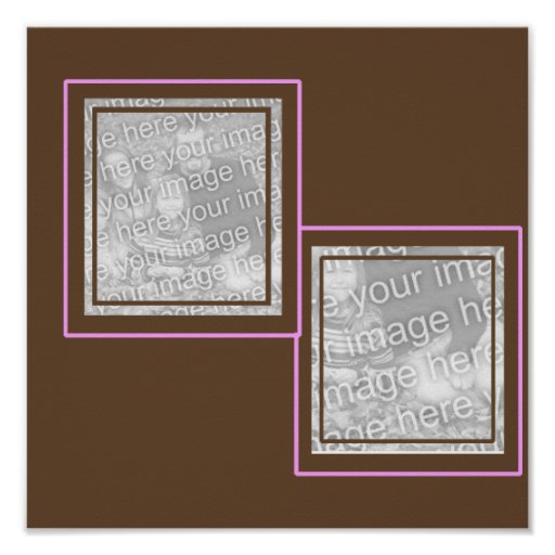Pink & Brown 2 photo frame poster