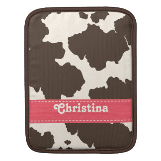 Pink Brown Cowhide iPad Sleeve