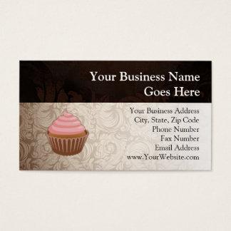 Pink/Brown Cupcake Business Card