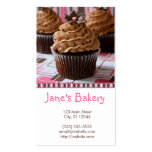 Pink & Brown Cupcakes Pack Of Standard Business Cards