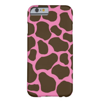 Pink Brown Giraffe Spots iPhone 6 case Barely There iPhone 6 Case