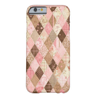 Pink & Brown Quilted Florals iPhone 6 case Barely There iPhone 6 Case