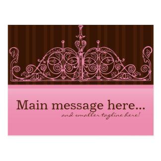 Pink & Brown Sales Postcard