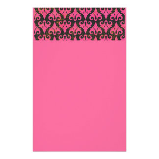 PINK BROWN SCROLLS PATTERNS TEXTURES BACKGROUNDS PERSONALIZED STATIONERY