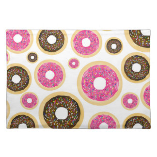Pink & Brown Sprinkle Donuts Modern Fun Cute Placemat
