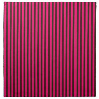 Pink brown stripes bright vibrant fun girly design napkins