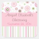 Pink Brown Sweet Girl Polka Dot Favour Sticker