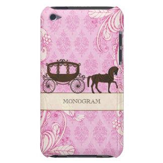 Pink & Brown Vintage Swirls  & Wedding Horse iPod Touch Case
