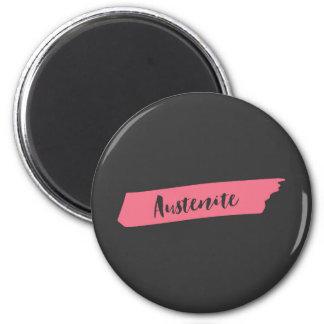 Pink Brush Austenite 6 Cm Round Magnet