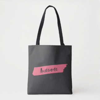 Pink Brush Austenite Bookish Tote Bag