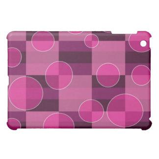 Pink Bubble Checkered Print iPad Case