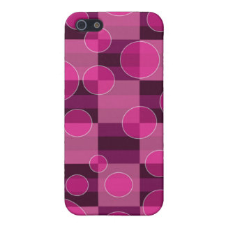 Pink Bubble Chequered Print iPhone Case 4 Case For The iPhone 5