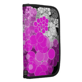 Pink Bubble Flower Folio Smartphone Planners