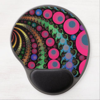 Pink Bubble Fractal Mosaic Gel Mouse Pad