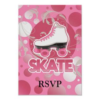Pink Bubble Swirl Roller Skate, Skating Card