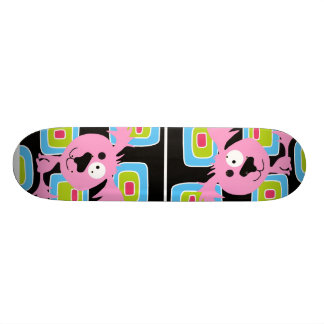 Pink Bubblegum Retro Dog 18.1 Cm Old School Skateboard Deck