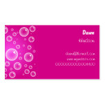 Pink Bubbles, Business Card Template
