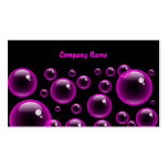 Pink Bubbles, Company Name Pack Of Standard Business Cards