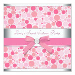 Pink Bubbles Pink Sweet 16 Birthday Party Personalised Announcements