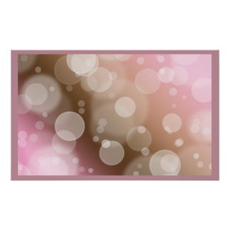 Pink Bubbles Poster