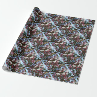 Pink Buds and Jasmine Blossom Close Up Wrapping Paper