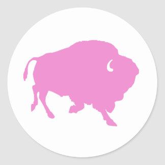 pink buffalo round sticker