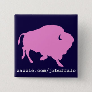 pink buffalo square pin